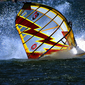 Wind surfing by Gaylord Mink - Sports & Fitness Surfing ( wind, spray, wind wind surfing, surfboard, surf )