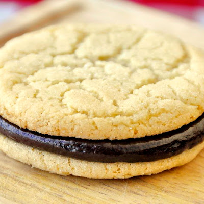 Soft and Chewy Sugar Cookies with Chocolate Ganache