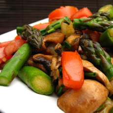 Stir Fry Asparagus and Mushrooms