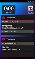 Screenshot of Songkick Concerts