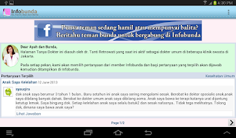 Screenshot of Infobunda (ibu hamil, bayi)