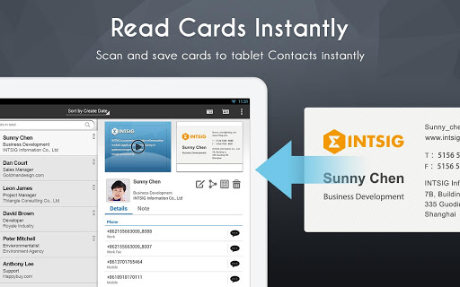 camcard-business-card-reader for android screenshot