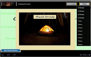 Screenshot of Sleep Sounds: Camping