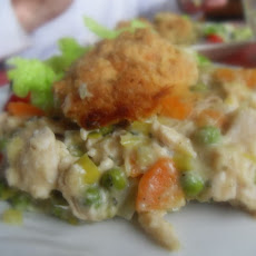 Chicken Pot Pie with Cheddar Dumplings