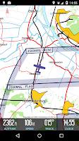 Screenshot of VFRnav flight navigation