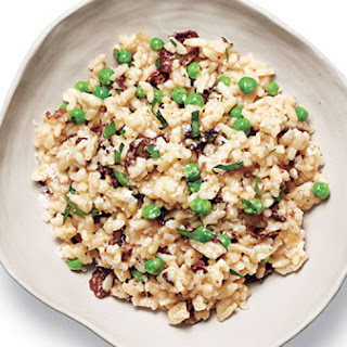 Porcini Risotto With Peas