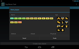 Screenshot of Top Eleven Tool