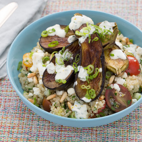 Quinoa Tabbouleh & Fairy Tale Eggplants with Toasted Pine Nuts ...