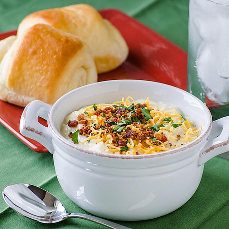 Easy Creamy Potato Soup {Slow Cooker} Recipe | Yummly