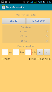 Time calculator - screenshot