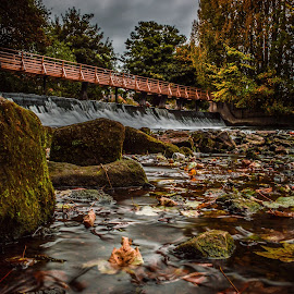 Low Level weir by Stuart Lilley - Landscapes Waterscapes ( water, autumn, landscapes, landscape, derby,  )