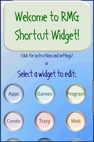 RMG Shortcut Widget