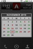 Screenshot of FD Shift Calendar Widget