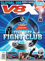 Screenshot of V8X Supercar Magazine