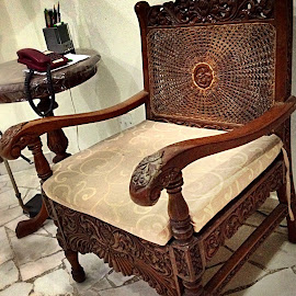 Carved wooden chair by Janette Ho - Artistic Objects Furniture ( Chair, Chairs, Sitting,  )