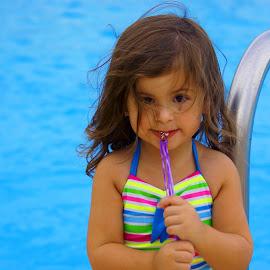 Poolside by Adam Barrilleaux - Babies & Children Children Candids ( girls, pool )