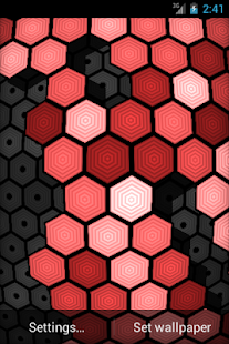 HexGrid Live Wallpaper - screenshot