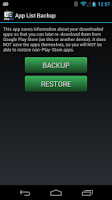 Screenshot of App List Backup via Email