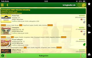 Screenshot of Bringbutler - Pizza, Pasta, ..