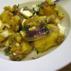 Winter Squash Salad With Feta And Caramelised Onions