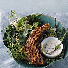 Indian-Spiced Sturgeon with Mint Yogurt Sauce