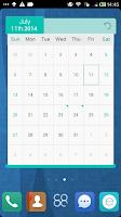 Screenshot of 3D Calendar _Turbo EX widget