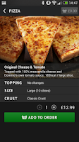 Screenshot of Domino's Pizza