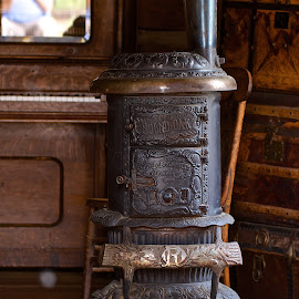 Wood stove by Dan Ferrin - Artistic Objects Antiques ( stove, antique stove, heater, antique, wood stove )