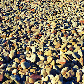 Pebbles by Angie Constable - Abstract Patterns ( pattern, texture, pebbles, beach, rocks,  )