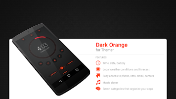 Screenshot of Dark Orange Theme