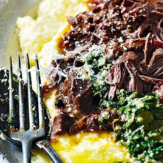 Hare Ragù With Polenta And Salsa Verde