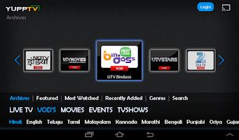 Screenshot of YuppTV_Tab