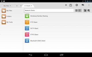 Screenshot of File Expert HD with Clouds