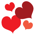 Hearts Red GO Launcher Theme icon
