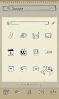 Screenshot of Doodle dodol launcher theme