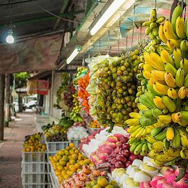 Traditional Fruits Store by Soleh Hudin - City,  Street & Park  Markets & Shops ( banana, store, street, fruits, traditional )