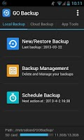 Screenshot of GO Backup & Restore Pro