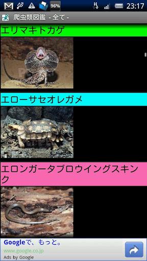 爬虫類図鑑