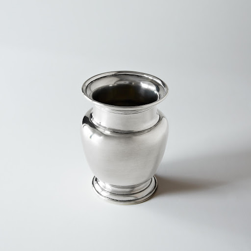 Small Rimmed Pewter Vase