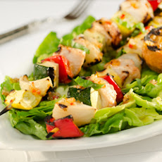 Skewered Grilled Chicken With Vegetables