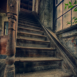 Wooden Work Steps by Richard Ashton - Buildings & Architecture Decaying & Abandoned