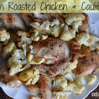 Lemon Roasted Chicken and Cauliflower