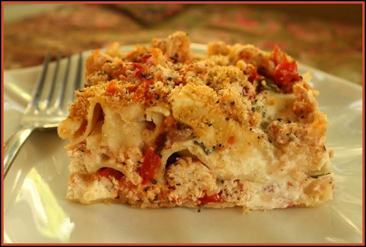 Three Cheese Chicken Lasagna Recipe | Yummly