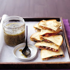 Spinach-and-Mushroom Quesadillas