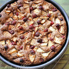 Apple Cake Recipe with Cranberries
