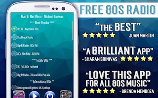 Screenshot of Free 80s Radio