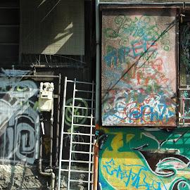 Harajuku House 2 by Edd Rose - Buildings & Architecture Architectural Detail ( grafitti, color, tokyo, harajuku, artisthouse )