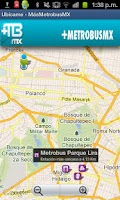 Screenshot of Metrobus MX