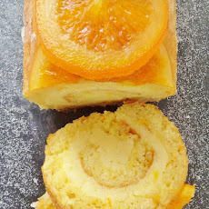 Orange And Almond Swiss Roll