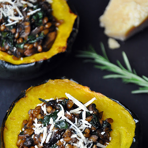 Roasted Acorn Squash + Caramelized Shallots with Parsley Oil {print me ...